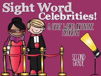 A Sight Word Incentive Program-Dolch Second Grade-Movie Star Theme