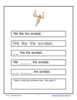Circus - Sight Word Phrase Story