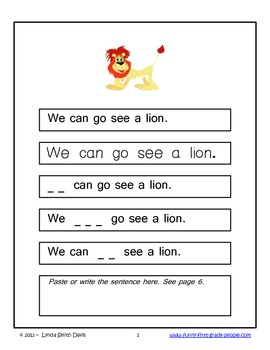 Zoo Animals - Sight Word Phrase Story