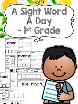 A Sight Word a Day Keeps the Doctor Away - 1st Grade