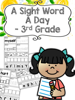 A Sight Word a Day Keeps the Doctor Away - 3rd Grade