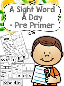 #SPEDChristmas3 A Sight Word a Day Keeps the Doctor Away - Pre Primer