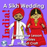 India! A Sikh Wedding - Class Paper Doll Activity, Intro to Sikhism, Henna Craft