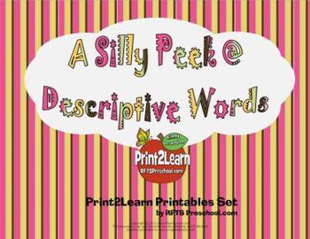 A Silly Peek @ Descriptive Words {Literacy Activity}