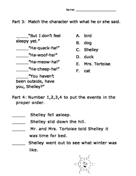 A Silly Snowy Day by Michael Coleman Reading Comprehension Packet