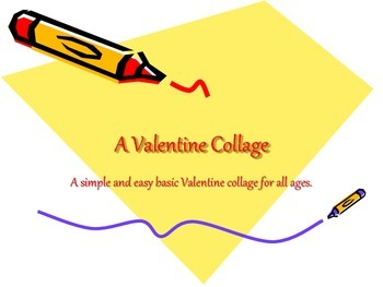 An Easy Valentine Art Collage Project for children
