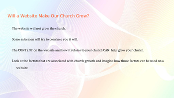A Simplified Guide to Church Website Design:PowerPoint