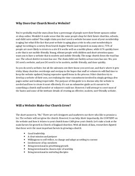 A Simplified Guide to Church Website Design: Purpose, Planning, and Presentation