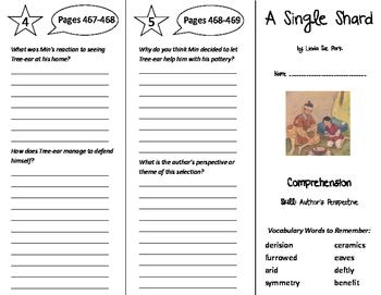 A Single Shard Trifold - Treasures 6th Grade Unit 4 Week 5