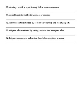 A Single Shard by Linda Sue Park Vocabulary