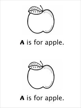 """""""A"""" Beginning Reader Book"""