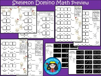 A+ Addition Skeleton: Domino Math For Halloween
