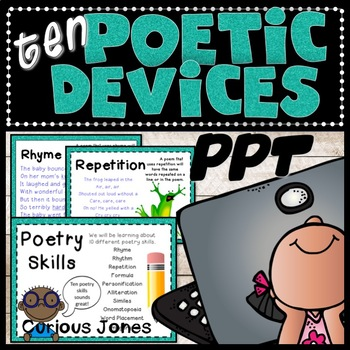 Poetry Skills PPT - 10 Literary Devices for Reading and Writing Poetry