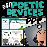 Poetic Devices & Figurative Language PPT -  Examples & Practice