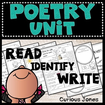 Poetry Unit - Reading and Writing Poems with Literary Devices in Mind