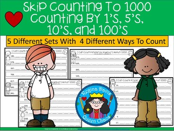 A+ Skip Counting to 1000: Count by 1's, 5's, 10's, and 100's