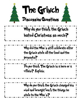 "A Sleighful of Language Arts Activities based on the book ""The Grinch"" - CCSS"