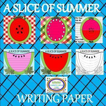 A Slice Of Summer Writing project
