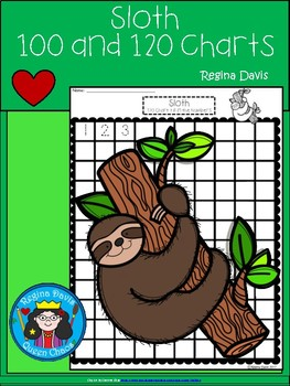 A+ Sloth: Numbers 100 and 120 Chart