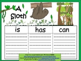 A+  Sloth... Three Graphic Organizers
