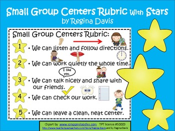 A+  Small Group Behavior Rubric With Stars