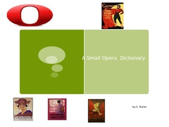 A Small Opera Dictionary