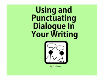 A SmartBoard Intro to Dialogue:  An Interactive Presentation for 2nd - 5th Grade