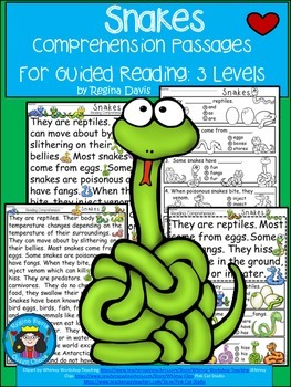 A+ Snake.... Comprehension: Differentiated Instruction For Guided Reading