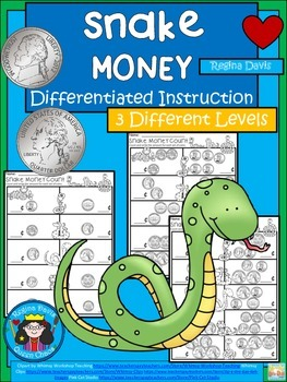 A+ Snake Money: Differentiated  Practice