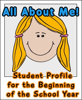 All About Me! Student Back to School Profile Picture Frame Printables