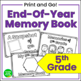 End of Year Memory Book for 5th Grade