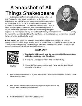 A Snapshot of Shakespeare
