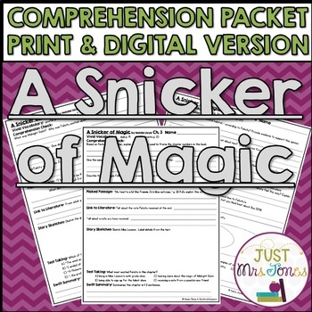 A Snicker of Magic Comprehension Packet