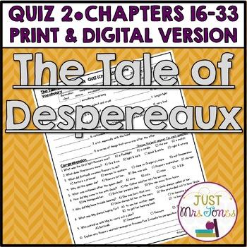 The Tale of Despereaux Quiz 2 (Ch. 16-33)