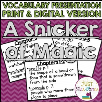 A Snicker of Magic Vocabulary Presentation