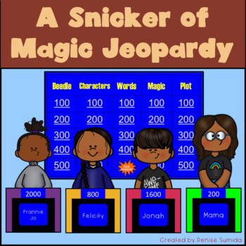 A Snicker of Magic by Natalie Lloyd Jeopardy