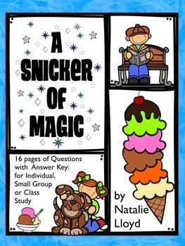 A Snicker of Magic by Natalie Lloyd Novel Study