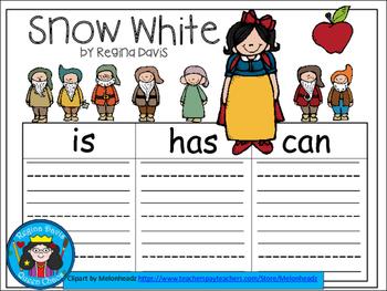 A+ Snow White... Three Graphic Organizers