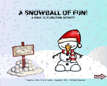 A Snowball Of Fun - A Vocal Exploration Activity (SMNTBK EDITION)
