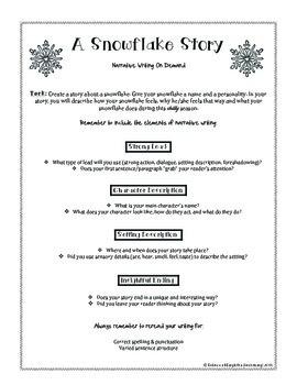 A Snowflake Story: Narrative Writing On Demand