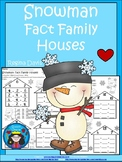 A+ Snowman: Fact Family Houses