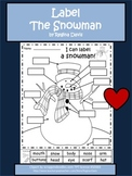 A+ Snowman: Label The Snowman
