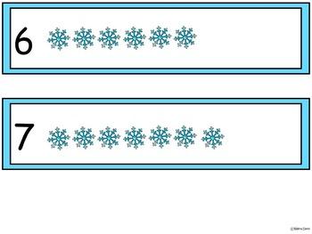A+ Snowman & Snowflake Number Sense