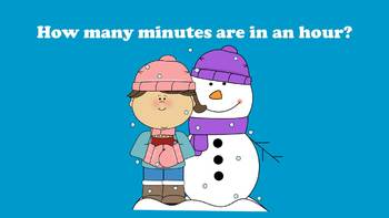 A Snowman's Guide To Telling Time - PowerPoint Game