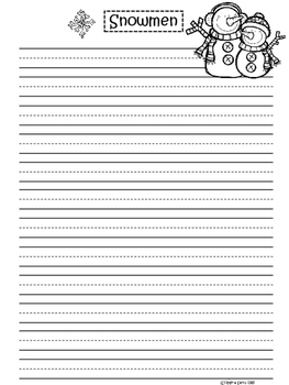 A+ Snowmen ... Writing Paper