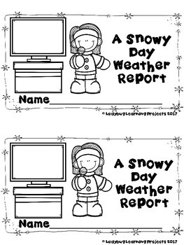 A Snowy Day Report  (A Sight Word Emergent Reader and Teacher Lap Book)