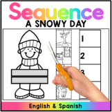 A Snowy Day Sequencing and Retell Puppet - Spanish & English