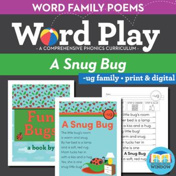 A Snug Bug - ug Word Family Poem of the Week