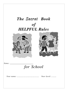 A social skills booklet written for Autistic student