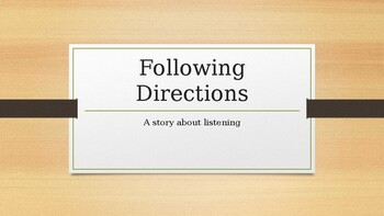 A Social Story: Following Directions